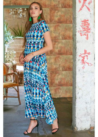 Onjenu Joni Malmo 70's Maxi Dress Blue