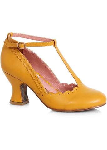 Bettie Page Shoes Penny 40's Pumps Yellow