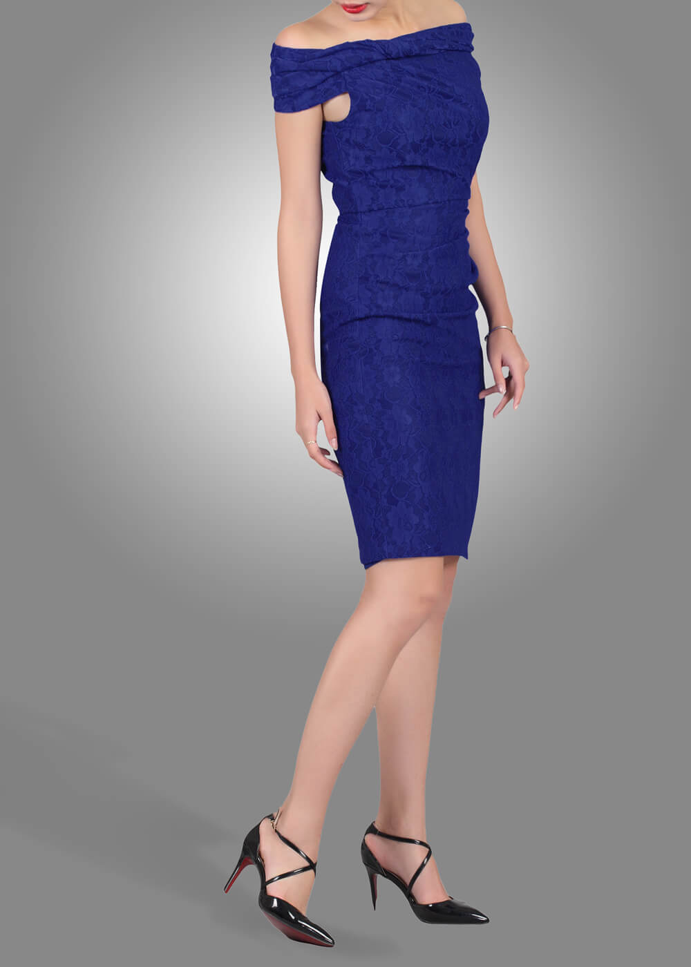 Jolie Moi Emma Pencil Dress Royal Blue