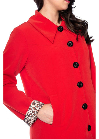 Banned Easy Breezy 60's Coat Red