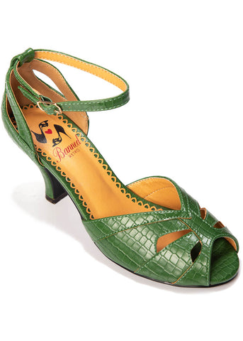Banned Indiscreet 50's Pumps Green