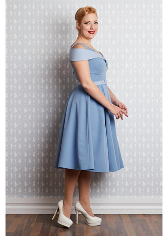 Miss Candyfloss Lisbeth Regina 50's Swing Dress Blue