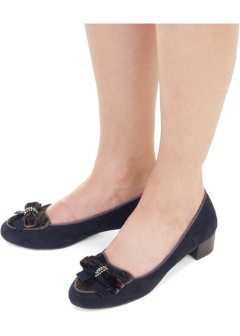 Ruby Shoo Victoria Loafer Navy Blue