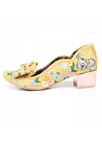 Irregular Choice Bunny Hop Pump Yellow