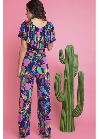 Onjenu Misty Frida 70's Jumpsuit Navy