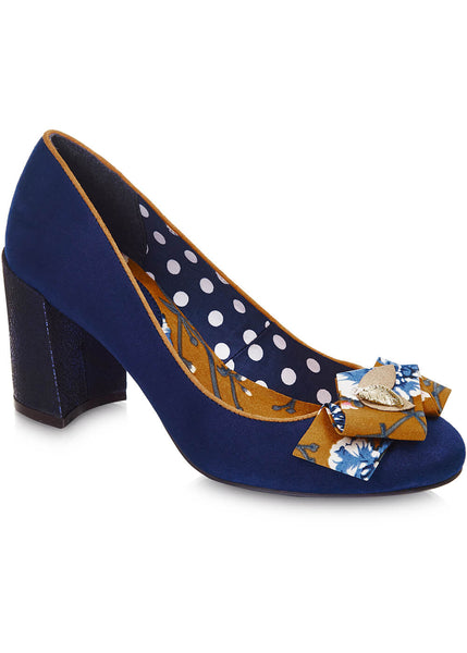 Ruby Shoo Pandora 60's Pumps Navy Blue