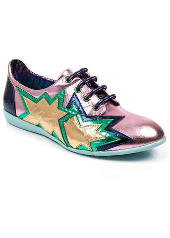 Irregular Choice Star Light Shoes Pink