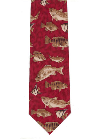 The Tie Studio Sea Fishes Tie Silk