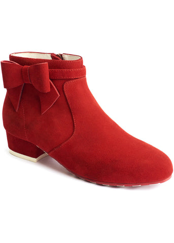 Lola Ramona Alice Red Hot 60's Booties Red