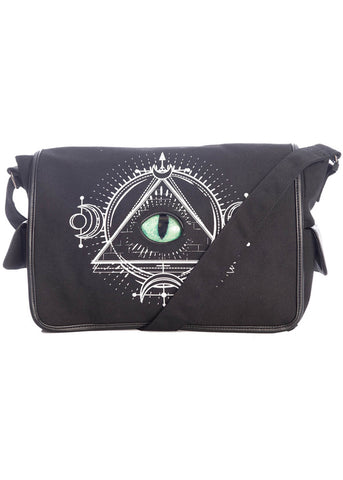 Banned Astral Voyage Eye Shoulder Bag Black