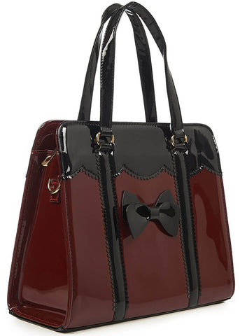 Banned Juicy Bits Handbag Burgundy Black