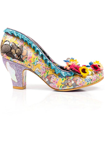 Irregular Choice Disney Bambi I'm Thumpin Pumps Yellow