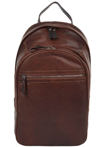 Ashwood Vinnie Leather Backpack Brown