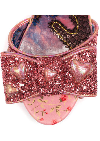 Irregular Choice With Love Hot Rocks Heels Pink