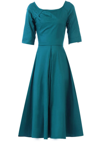 Jolie Moi Diana 50's Swing Dress Teal