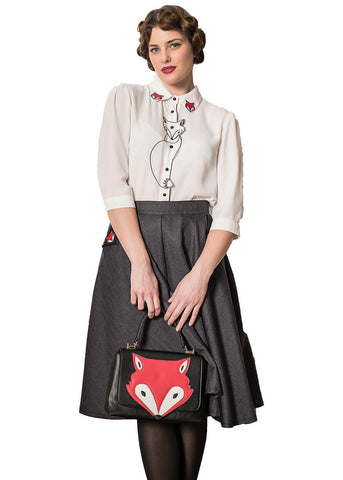 Banned Foxy 50's Blouse White