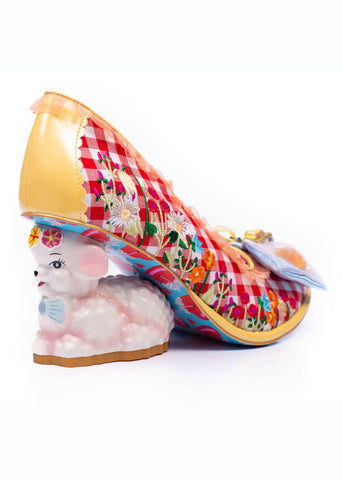 Irregular Choice Famalamb Pumps Gold Multi