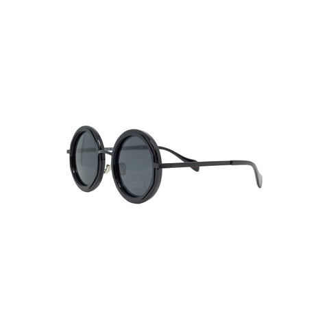 Bright & Beautiful Grace 70's Sunglassses Black