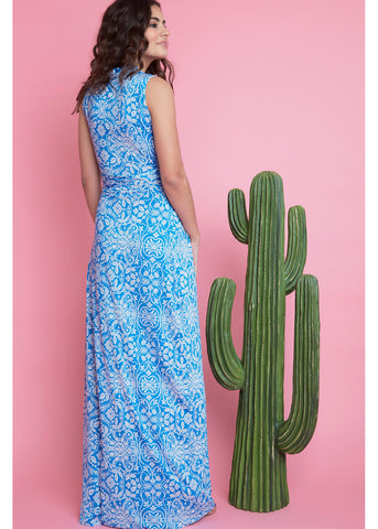 Onjenu Pitot Papel Maxi Dress Blue