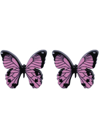Succubus Butterfly Cutie Pie Earrings Pink