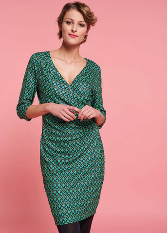 Smashed Lemon Green with Envy 60's Pencil Dress Green