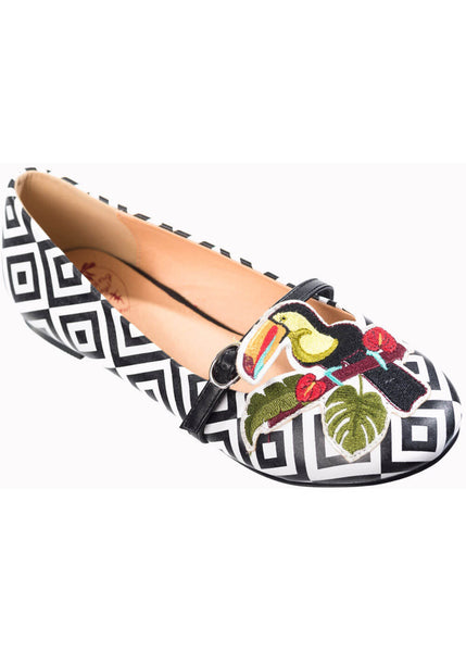 Banned Toco Toucan Ballerinas Ethno Color