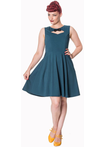 Banned Atlantic 50's Dress Teal