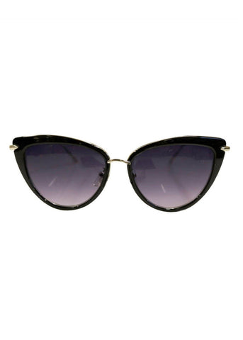 Collectif Dita Cateye Sunglasses Black Gold