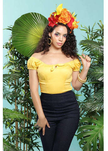 Collectif Lorena 50's Top Yellow