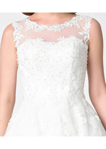 Unique Vintage Riviera Lace Tulle Wedding Dress Ivory