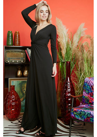 Onjenu Leia Block 70's Jumpsuit Black