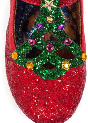 Irregular Choice Nicely Festive Heels Red Green