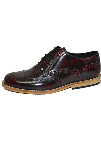 Steelground Gatsby Brogue Shoes Burgundy