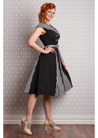 Miss Candyfloss Giustina Roman Holiday 50's Swing Dress Black