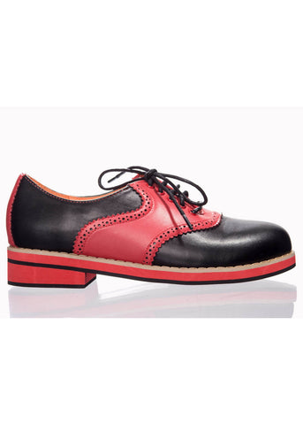 Banned Old Soul Dancer Shoes Black Red