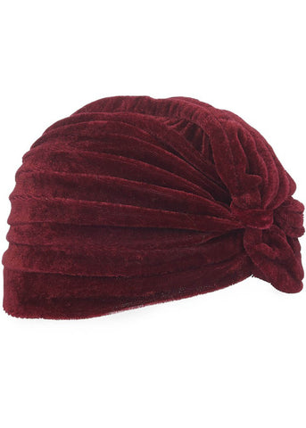Banned Velvet Turban Red