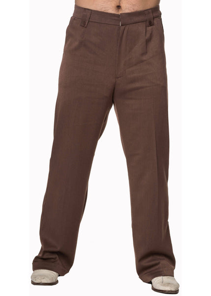 Banned Heren Get In Line Trousers Brown