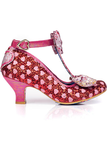 Irregular Choice Total Freedom Hearts 50's Pumps Red