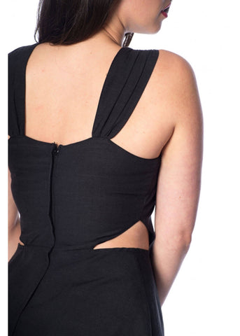 Banned Cut Out the Middle 80's Dress Black