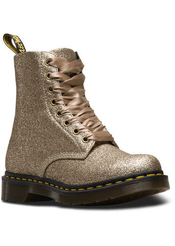 Dr. Martens 1460 Pascal Glitter Boots Pale Gold