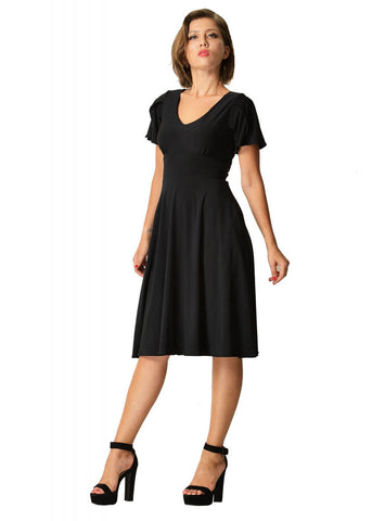 Dolly & Dotty Claire 50's Swing Dress Black
