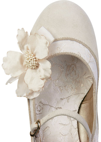 Ruby Shoo Madelaine Pumps Cream Gold