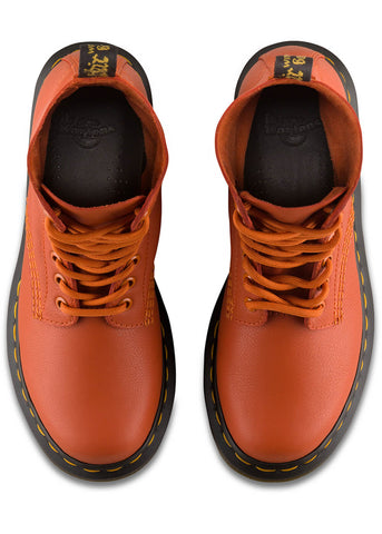 Dr. Martens 1460 Pascal Virginia Soft Leather Lace-up Boots Orange