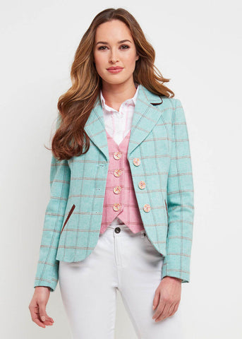 Joe Browns Summer Check Blazer Jacket Mint