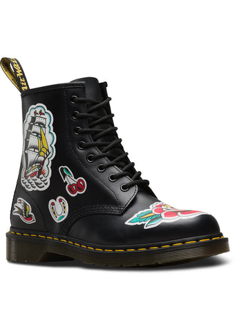 Dr. Martens 1460 Tattoo Chris Lambert Boots Black