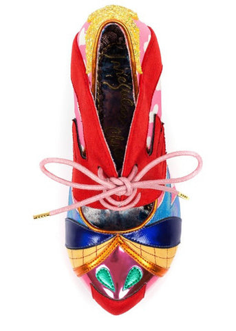 Irregular Choice Deckchair Diva Pumps Pink Multi