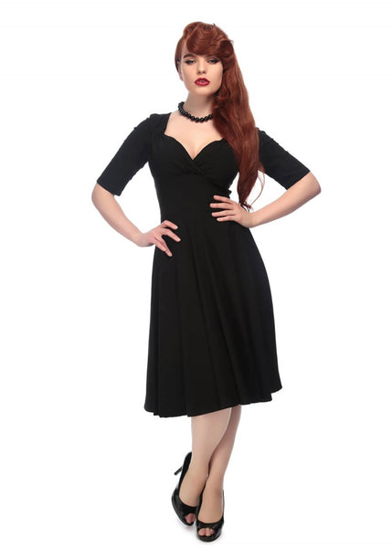 Collectif Trixie Doll Swing Dress Black