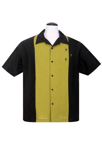 Rock Steady Mens Crosshatch Shirt Black