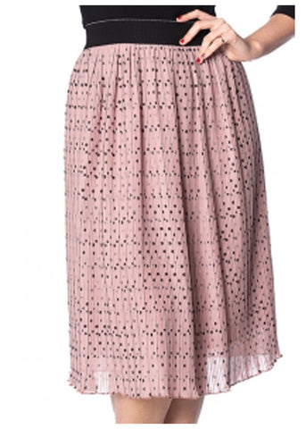 Banned Dots About Spots 60's Skirt Pink