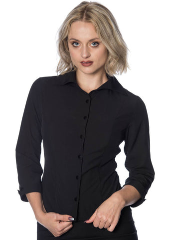 Banned Everyday Madness 50's Blouse Black